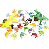 Toyvian 13pcs Simulation Frog Toy Plastic Educational Realistic Fun Toys Party Favors Frog Model for Kids Toddler Children