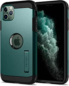 【Spigen】 iPhone 11 Pro ケース 5.8インチ 対応 超耐衝撃 新モデル スタンド機能 米軍MIL規格取得 カメラ保護 傷防止 衝撃 吸収 Qi充電 ワイヤレス充電 タフ・アーマー XP ACS00420 (ミッドナイト・グリーン)
