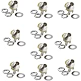 Honbay 10Pcs 1/4 Mono Jack Socket Stratocaster Replacement for Bass Electric Guitar