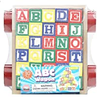 30 Piece ABC Stack N' Build Wagon Blocks with Learning Pictures Kids Toy 【You&Me】 [並行輸入品]