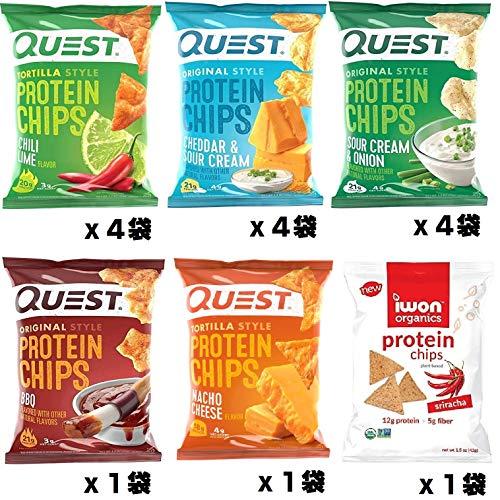プロテイン チップス バラエティパック(Quest Nutrition Protein Chips 5 Flavor 15 Pack Variety Pack)