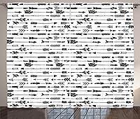 """モダンインテリアカーテンby Ambesonne、Geometrical Sketchy抽象イメージでカラフルな円Jadeグリーン背景、リビングルームベッドルームウィンドウドレープ2パネルセット、マルチカラー 108"""" W By 84"""" L p_30818_108x84"""