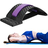 Back Stretcher Device Adjustable for Lumbar Pain Relief, HONGJING Back Massager for Lower & Upper Muscle Relaxation, Great fo