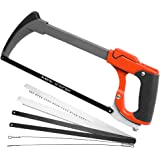 AIRAJ 12 in Hacksaw Frame Adjusts Tension, Two Sawing Angles (45°/90°) Saws, One-key Replacement of 7 Reciprocating Saw Blade