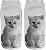 クルーソックス Timsa 日韓風 女子高生 制服の靴下 レディース かわいい 3D 猫柄 伸縮性良い 綿ソックス 美脚セクシー インソックス 靴擦れ防止 靴ムレ防止 登山 アウトドア スキー スノーボート フリーサイズ