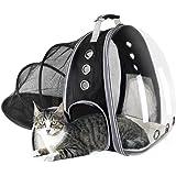 LEMONDA Expandable Transparent Cat Backpack Carrier, Space Capsule Pet Travel Bag, Airline Approved Knapsack for Cat Dog