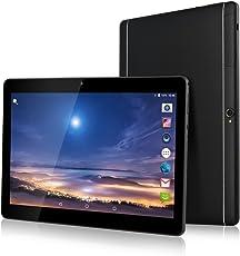 TYD(JP) 10.1インチタブレットPC MTK6580 tablet デュアルSIMスロット 3Gと2G通信 クアッドコア Android 7.0対応 RAM 2GB+ROM 32GB 1920*1080 IPS液晶 64ビット クアッドコア デュアルカメラ/Wi-Fi/BT4.0 (くろみ)TYD-108-Black