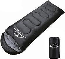 LEEPWEI[2019最新版]寝袋 封筒型 軽量 保温 210T防水シュラフ コンパクト アウトドア キャンプ 登山 車中泊 防災用 丸洗い可能 快適温度10度-25度 900g