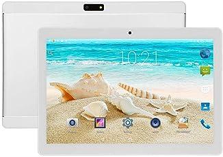 casualcatch 10.1インチAndroidタブレット 2Gメモリ16Gメモリ デュアルSIMカードスロット Wi-Fi、Bluetooth、カメラ、GPS、3G携帯電話 シルバー US