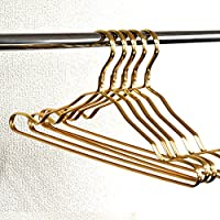 アルミハンガー 5本セット ゴールド 軽くて扱いやすい スタイリッシュなメタルカラー