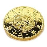 復刻版 近代銭 明治三年銘 旧二十圓 金貨 金鍍金 プルーフ調仕上げ
