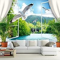 Weaeo カスタム壁紙の壁紙ロール3D自然景観不織布リビングルームのソファの背景ホームインテリア写真の壁紙-200X140Cm