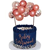 Rose Gold Balloon Cloud Cake Topper 10pcs 5 in Rose Gold Confetti Mini Balloon Garland Cake Topper for Cake Decoration Girl B