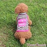 ドッグウェア 犬服 ペット洋服 クールウェア☆保冷剤1個付き☆ポケット付きボーダータンクトップ(ピンク)Lサイズ
