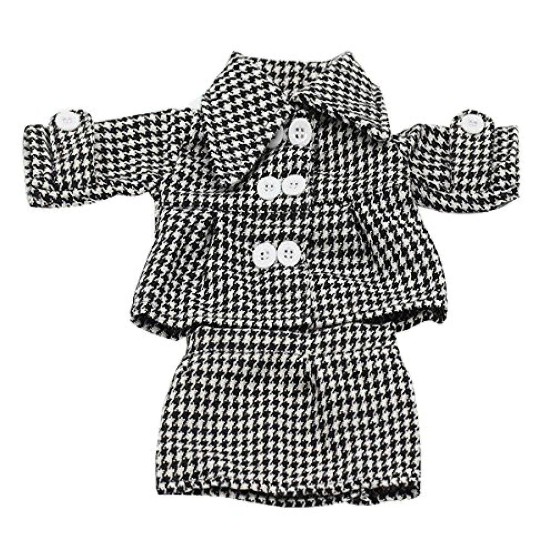 人形Clothes、AOFul長袖Professional Office格子柄コートショートスカート2ピースSuits Outfit Fits 16 – 18