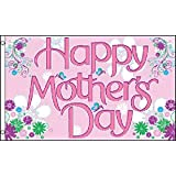 AZ FLAG Happy Mothers Day Flag 3' x 5' - Happy Mother's Day Flags 90 x 150 cm - Banner 3x5 ft