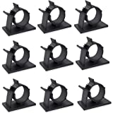 50 Pcs Black Clips Viaky Self Adhesive Backed Nylon Wire Adjustable Cable Clips Adhesive Cable Management Drop Wire Holder(50