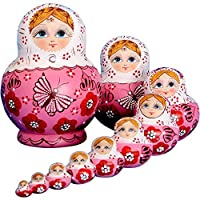 YAKELUS 10pcs Russian Nesting Dolls Matryoshka handmade01071 [並行輸入品]
