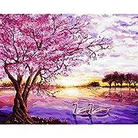 LovetheFamily 数字油絵 数字キット塗り絵 手塗り DIY絵 デジタル油絵 美しいデジタル絵画 40 x 50 cm ホーム オフィス装飾