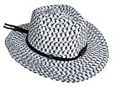 (ウォ2U)Woo2u キッズ 女の子 男の子 子供 ビーチキャップ 紫外線 ストローハット 麦わら帽子 日焼け防止 広い帽子 カウボーイ帽 シルバー