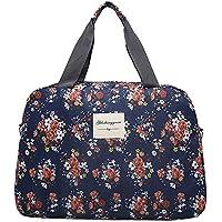 (アリルチョウ) ボストン バッグ かわいい 大容量 花柄 軽量 トラベル 旅行 バック 鞄 レディース