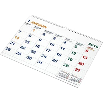 エトランジェディコスタリカ 2019年 カレンダー 壁掛け A3 ホワイト CLK-A3-01