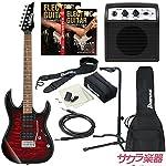 Ibanez アイバニーズ エレキギター GIO Ibanez GRX70QA/TRB ギター入門ミニアンプセット