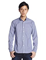 Oxford Gingham Buttondown Shirt 1211-218-4783: Royal
