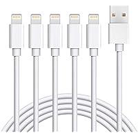 【2M×5根】閃電電纜 iphone充電線 Amoner 快速充電 數據傳輸 采用高耐久尼龍編織和鋁合金連接器 支持iP…