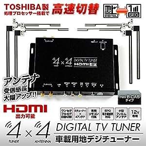 MAXWIN(マックスウィン) 地デジチューナー フルセグチューナー 4x4 4×4 車載 HDMI 地デジ フルセグ ワンセグ フィルムアンテナ 自動切替 FT44E
