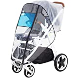 Hrzeem Stroller Rain Cover Stroller Cover Universal Baby Stroller Weather Shield with Storage Pouch EVA Clear Zip Front Openi