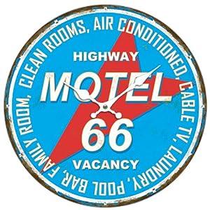 アンドグラッド MDF ウォールクロック 34cm MOTEL66 20342