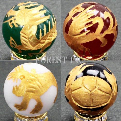 [해외]천연석 금 조각 사색 사신 짐승 비즈 곡물 판매/Natural stone gold carving four colors four-demon beads grain selling