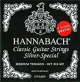 HANNABACH シルバースペシャル E815MT Black Set/2D (4弦2本入) スペシャルパッケージ