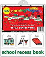Barker Creek - Office Products Learning Magnets 45 Pieces School Words (LM-3030) [並行輸入品]
