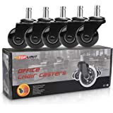 """Office Chair Caster Wheels 2"""" Plug-in 11x22mm Office Chair Replacement Wheels-Smooth&Safe for Hardwood,Tile and Carpet Floors"""