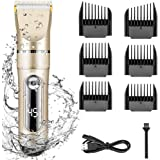 Electric Hair Clippers for Men Quiet LED Display Cordless Rechargeable Hair Trimmers Set, IPX7 Waterproof Haircut Barber Trim