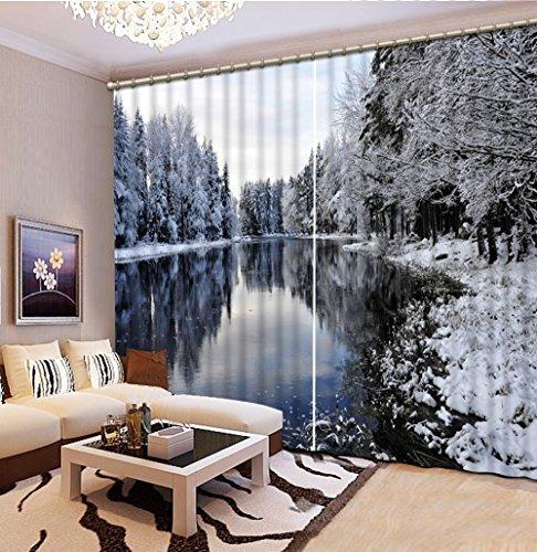 Sproud 3 次元のプリントカーテンの部屋の装飾のブラッ...