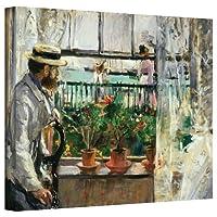 """アートウォール""""ユージーンマネット オンザワイト"""" ギャラリー ラップ キャンバス アートワーク ベルテ モリソット 60.96x81.28cm"""