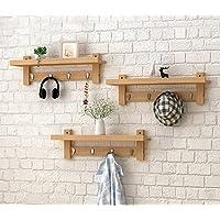 浮遊式棚 木製壁掛け掛け掛けハンガー掛け、壁掛け掛け布団掛け。 工業用壁フレーム (色 : B)