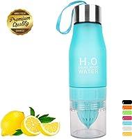HANTAJANSS Water Bottle Outdoor Sport Portable Cycling Lemon Bottle BPA Free Fruit Infuser Bottles