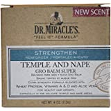 Dr. Miracle's Temple and Nape Gro Balm - For Healthy Hair Growth, Contains Wheat Protein, Aloe, vitamin A, Vitamin D, Strengt