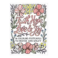 Faith Hope Love & Joy Coloring Postcards (Colouring Postcard Books)