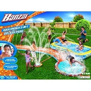 バンザイ アクアドレンチ 3イン1 スプラッシュパーク プール Banzai Aqua Drench 3-in-1 Inflatable Splash Park  [並行輸入品]