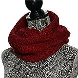 (Baoxinjp)レディーススヌード お洒落 可愛い スカーフ ニットスヌード 秋冬 ファッション小物 女性ストール 首巻き マフラー ワイン色
