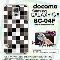 SC04F カバー GALAXY S5 SC-04F ケース ギャラクシー S5 ソフトケース スクエア グレー nk-sc04f-tp1016