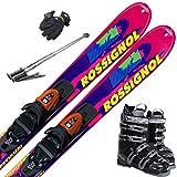 ROSSIGNOL スキー5点セット 12-13 SUPER VIRAGE 120cm W7-27cm/ストック115cm/メンズグローブ