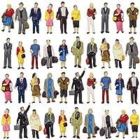 情景コレクション 人間 人形 人物 人間フィギュア塗装人 1:87 40本入り 箱庭 装飾 鉄道模型 建物模型 ジオラマ 教育 DIY
