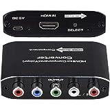 HDMI to コンポーネント コンバーター HDMI-YPbPr 5RCA RGBスケーラーアダプター R/Lオーディ…