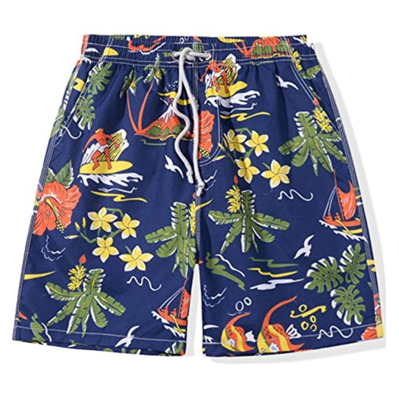 Shop358 メンズ 海パン サーフパンツ サマーカジュアル スポーツパンツ カラフル プール 全7カラー